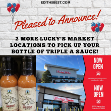 More locations to purchase Triple A Sauce
